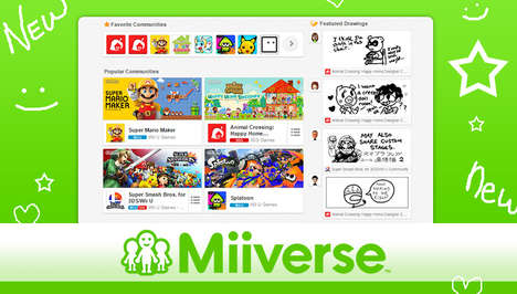 Gamer Networking Websites - The Miiverse Website Brings Nintendo Enthusiasts Together
