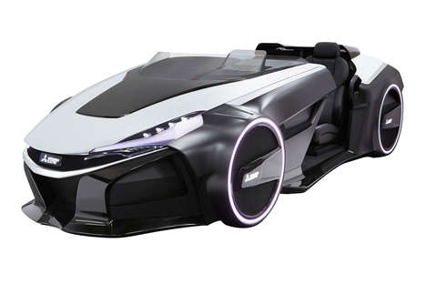 Futuristic Electric Car Concepts - Mitsubishi's Emirai 3 xDAS Has Visibility-Improving LCD Panels