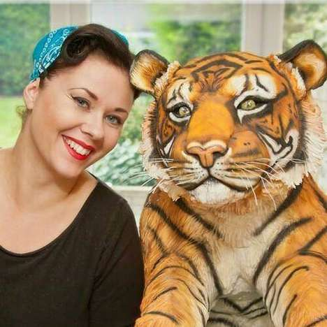 Life-Sized Jungle Cat Cakes - This Tiger Cake was Created to Raise Awareness of Endangered Animals