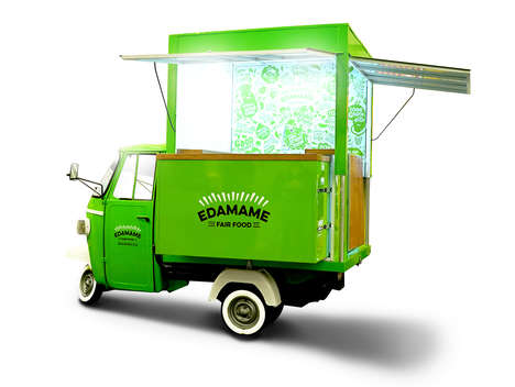 Three-Wheeled Food Trucks - This Mobile Eatery Provides a Healthy Alternative to Other Street Food