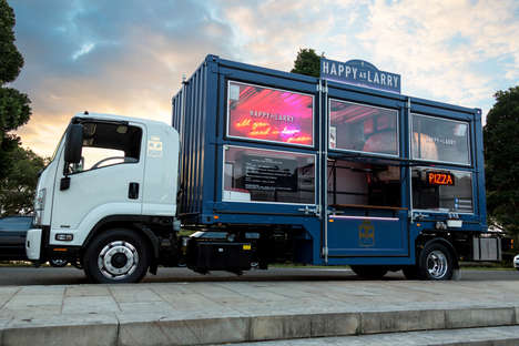 Shipping Container Food Trucks - This Company Sells Wood Oven Pizza from a Converted Truck