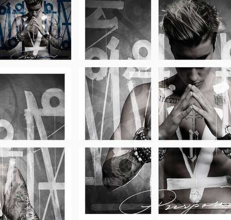 Tattooed Album Covers - The Cover Art for Justin Bieber's New Album Displays His Tattooed Body