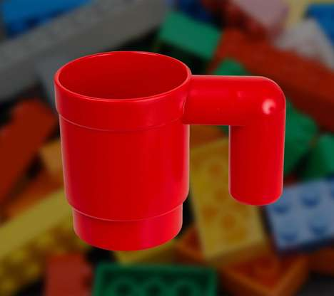 Life-Size Lego Mugs - This is an Upscaled Version of the Coffee Cup Used by LEGO's Little Yellow Men