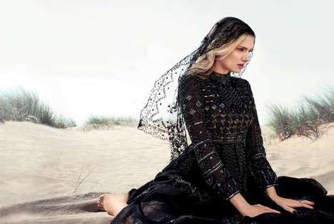 Elegantly Picturesque Editorials - The Lily Donaldson Harper Bazaar's UK Photoshoot is Like the Wind
