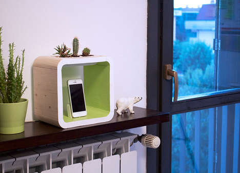 Cactus-Incorporated Device Docks - The AIO iPhone Dock Blends Natural and Manmade Aesthetics