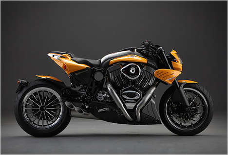 Luxury Italian Motorcycles - The CR&S Duu Motorcycle is Crafted with Custom Materials to Suit Riders