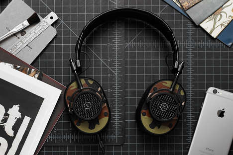 Hand-Painted Headphones - These Master & Dynamic MH40 Over Ear Headphones are Artistically Beautiful
