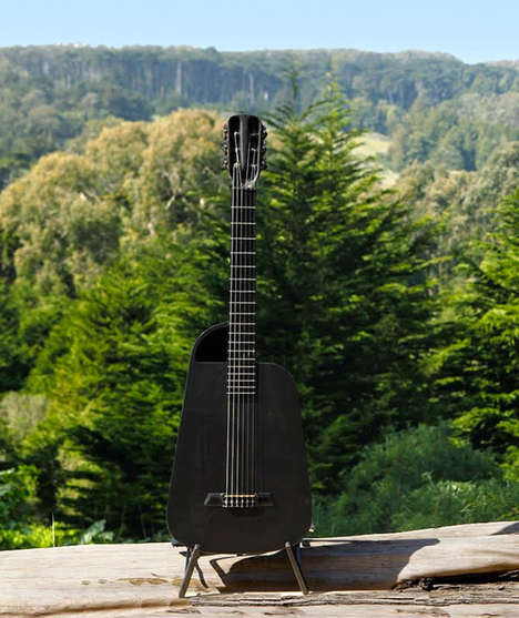 Unbreakable Musical Instruments - The Blackbird Rider Carbon Fiber Guitar is Strong Yet Lightweight