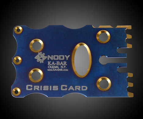 Credit Card-Like Weapons - The Ka-Bar Snody Crisis Card Provides a Weapon When You Need One