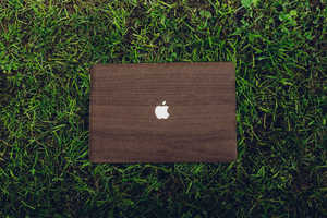 This Glitty Walnut MacBook Cover Adds a Touch of Texture to Your Laptop