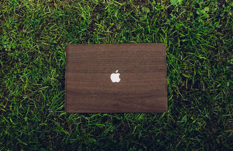 Carved Laptop Protectors - This Glitty Walnut MacBook Cover Adds a Touch of Texture to Your Laptop