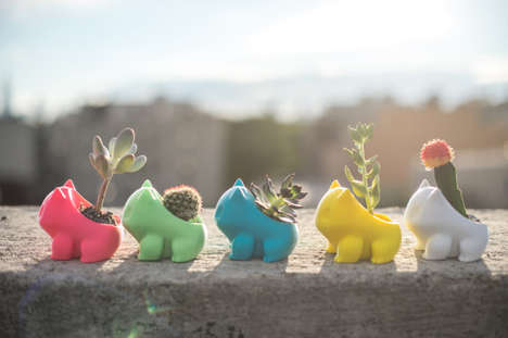 Printed Pokemon Planters - This 3D Printed Bulbasaur Planter is an Adorable Trinket for a Wee Cactus