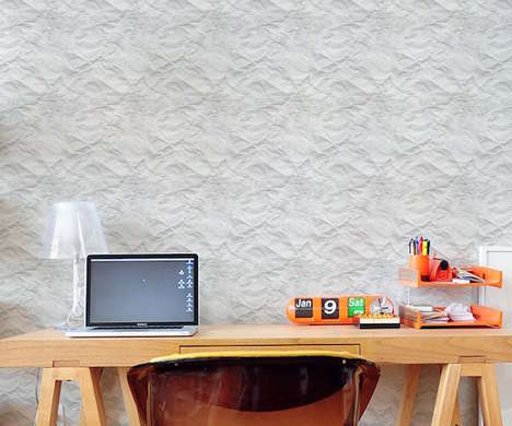 Crumpled Wall Coverings - This Easywallz Crumpled Wallpaper Makes Your Walls Look Unkempt