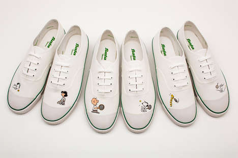 Comic-Incorporated Sneakers - The Peanuts x Bata Tennis Collection Celebrates the Brand's 65th Year