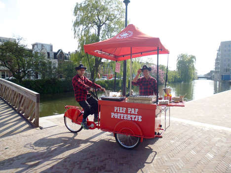 Bike-Powered Pastry Shops - Amsterdam's Pief Paf Pofferje Cart Offers an Authentic Beignet Menu