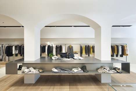 Simple Historic Flagship Shops - The Peserico Store in Florence Boasts a Monochrome Look
