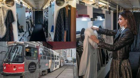 Chic Commuter Boutiques - Toronto Eaton Centre's Mobile Closet Makes Fashion Accessible