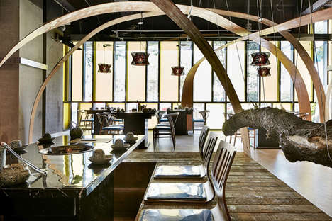 Post-Modern Hot Pot Restaurants - This Nanjing Restaurant Features a Host of Suspended Decor