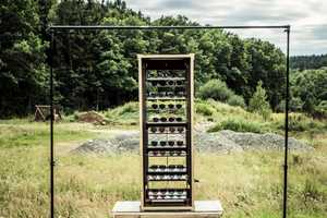The Andy Wolf Eyewear Concept System is Modern Rustic Merchandising