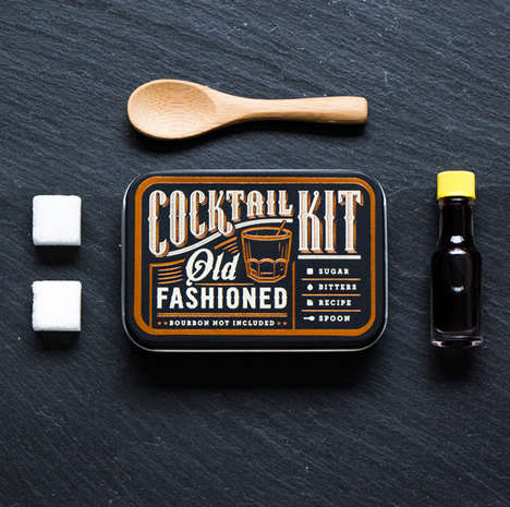 Pocket-Sized Cocktail Kits - This Tiny Cocktail Kit Includes the Ingredients for an Old Fashioned