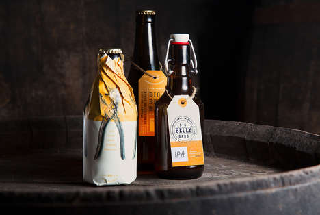 Italian Homebrewery Branding - Big Belly Band is a Homemade Beer Boasting Dynamic Packaging