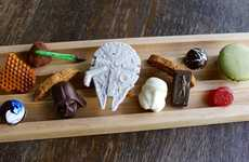 Galactic Chocolate Menus - The 'Faith & Flower' Restaurant is Serving a Star Wars Dessert Tray