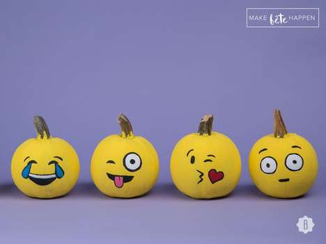 DIY Emoji Pumpkins - These Humorous Jack-O-Lanterns are Perfect for Halloween