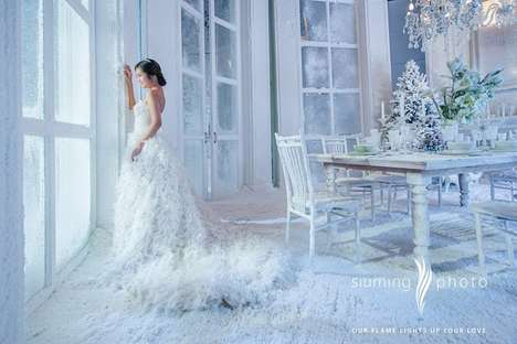 Artificially Icy Weddings - This Asian Company Provides Nuptual Celebrations with Artificial Snow