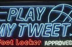 Athlete-Challenging Campaigns - This Ad for #PlayMyTweet Combines Basketball and Twitter Dares