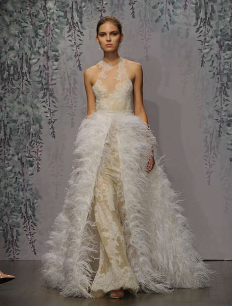 Ethereal Bridal Gowns - The Monique Lhuilier Fall Collection is Fit for a Garden Wedding