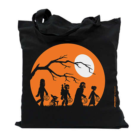 Sci-Fi Halloween Bags - This Death Star Halloween Tote Features Main Characters Trick-or-Treating