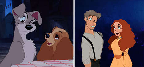 Anthropomorphic Disney Animals - These Iconic Animated Characters are Re-Imagined in Human Forms