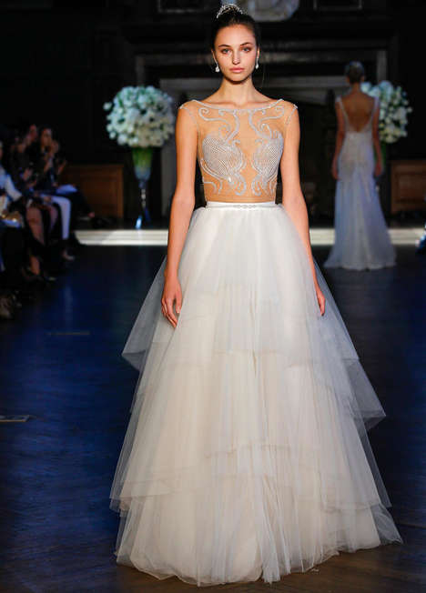 Embellished Bridal Couture - These Alon Livne Fall Dresses are Riddled with Elaborate Embroidery