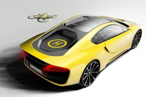 Drone-Outfitted Cars - This Self-Driving Concept Car Has a Fold-Up Steering Wheel & Personal Drone