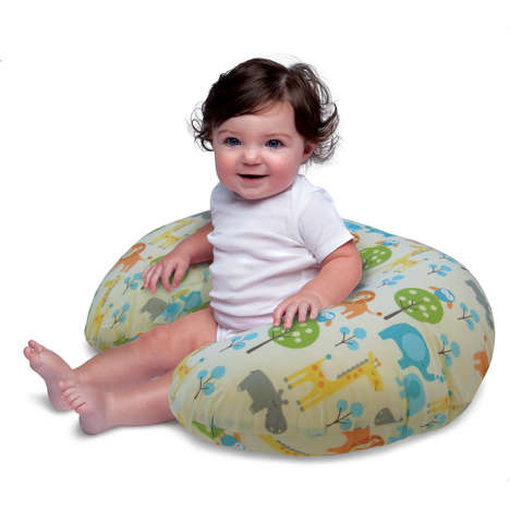 Cozy Baby-Supporting Pillows - The 'Boppy' is a U-Shaped Pillow That Improves an Infant's Posture