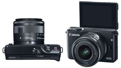 Elegantly Designed Cameras - The Canon EOS M10 Does Away With Needless Buttons and Controls