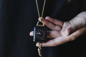 The Horn Charm Pendant Necklace for Apple Watch is Retro-Chic