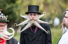 Quirky Moustache Pageants - These Beard Championships Showcase & Award the Most Bizarre Facial Hair