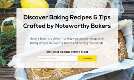 Recipe Discovery Platforms - This Website Supplies Users with Exciting Recipes from Top Bakers
