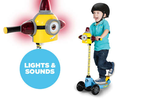 Cartoon Alien Scooters - This Playful Three Wheel Scooter is Inspired by Disney's Minion Movie