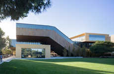 Intertwined University Buildings - Stanford's New Building Spirals to Look Like DNA Strands