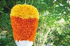 Candy Corn Pinatas