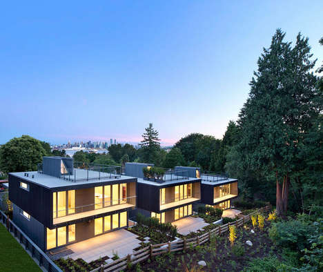 Cascading Glass Houses - These Vancouver Homes Simultaneously Face the City Skyline and Lush Forest