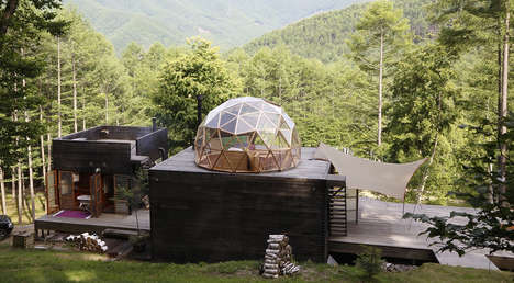 Geometric Mountain Retreats - This Hillside Hideaway Perfectly Blends into the Japanese Landscape