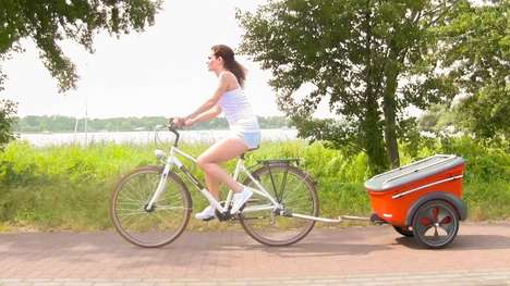 Barbecue Bicycle Trailers - The Grillrider Lets You Haul All Your Grilling Supplies Around
