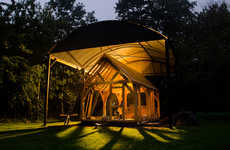 Sustainable Outdoor Shelters - This Cabin is Made from Local Materials and Green Technology