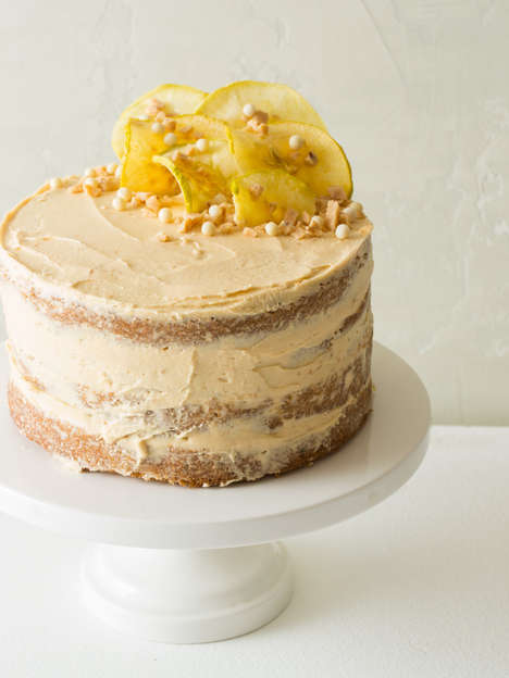 Spicy-Sweet Thanksgiving Cakes - This Flavorful Dessert Incorporates Apple, Thyme & Salted Caramel