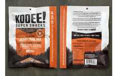 Moisture-Control Jerky Packages - The Kooee Snacks Keep Separate Ingredients in One Peel & Mix Pouch