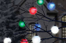 Cordless Outdoor Ornaments - These Traditional Christmas Baubles Light Up Exteriors With No Wires