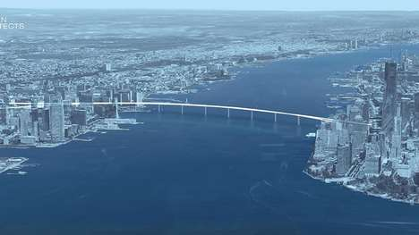 City-Linking Pedestrian Bridges - The Liberty Bridge Would Link Manhattan and Jersey City